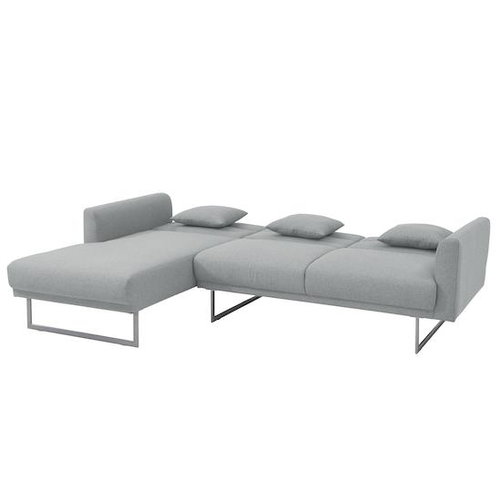 Stan L-Shaped Sofa Bed - Silver, Sofa beds by HipVan   HipVan