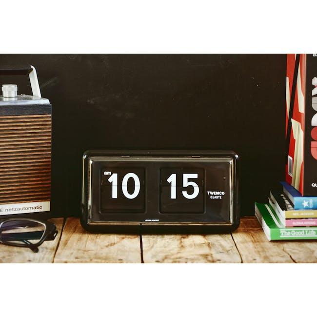 TWEMCO Table Clock - Black - 1