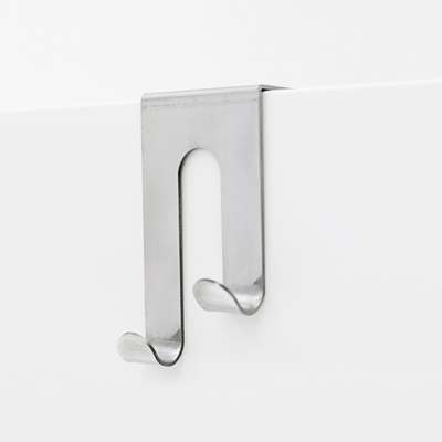 Double J-Hook over Drawer / Cupboard - Brushed Steel - Image 1