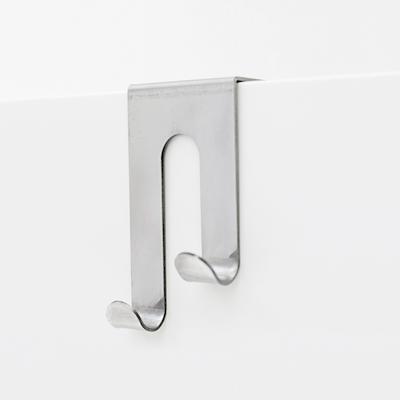 Double J-Hook over Drawer / Cupboard - Brushed Steel - Image 1