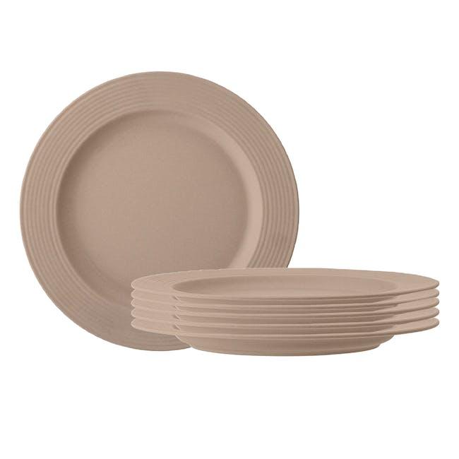 Rhea Dinner Plate - Brown (Set of 6) - 0