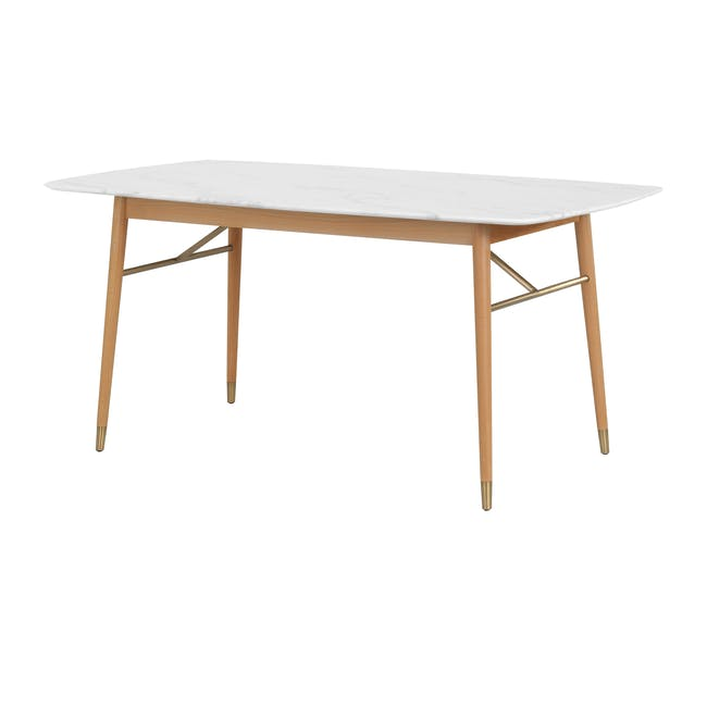 (As-is) Hagen Marble Dining Table 1.6m - 3 - 0
