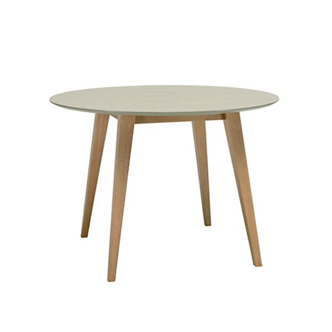 (As-is) Ralph Round Dining Table 1m - Natural, Taupe Grey - 3 - 8