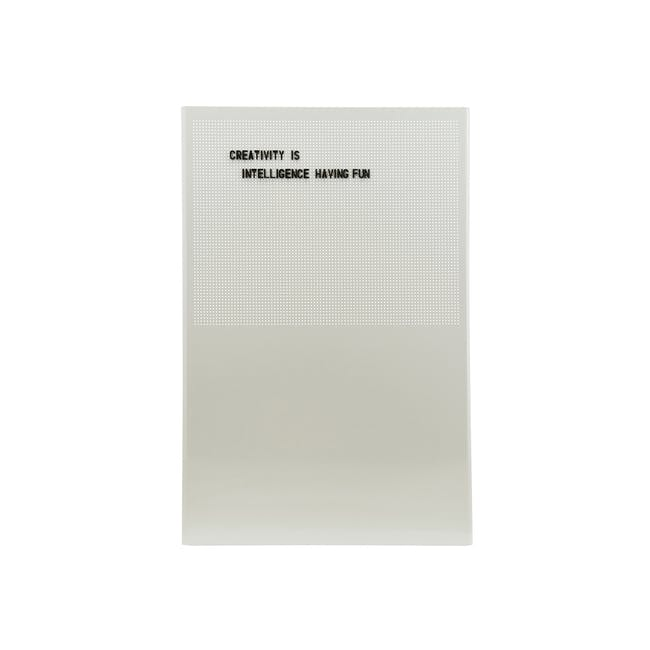 Grid Magnetic Notice Board - Grey - 0