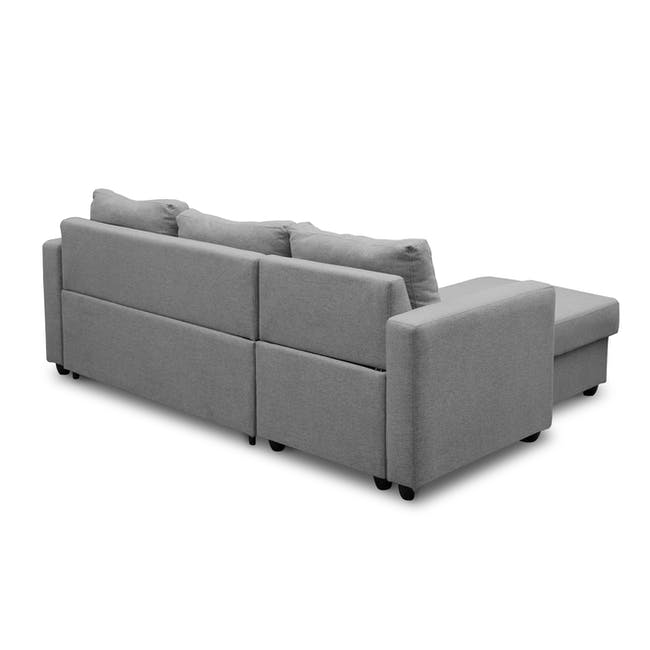 Mia L-Shaped Storage Sofa Bed - Dove Grey - 4