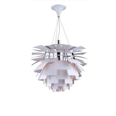 Artichoke Lamp with E27 Bulb - White