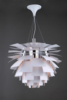 Artichoke Lamp with E27 Bulb - White
