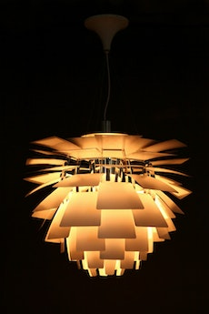 Artichoke Lamp with E27 Bulb - Silver
