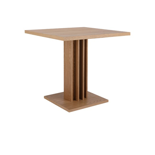 Colton Square Dining Table 0.8m with 2 DSW Chair Replica in Natural, White - 1