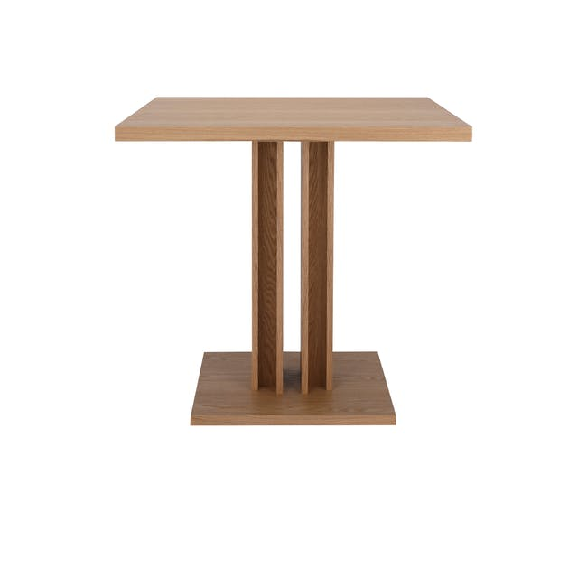 Colton Square Dining Table 0.8m with 2 DSW Chair Replica in Natural, White - 4