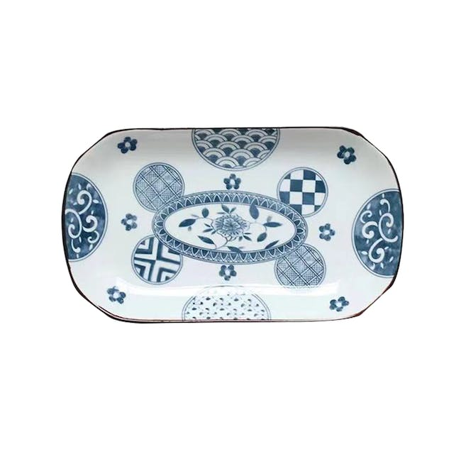 Table Matters Patchwork Rectangular Plate - 0