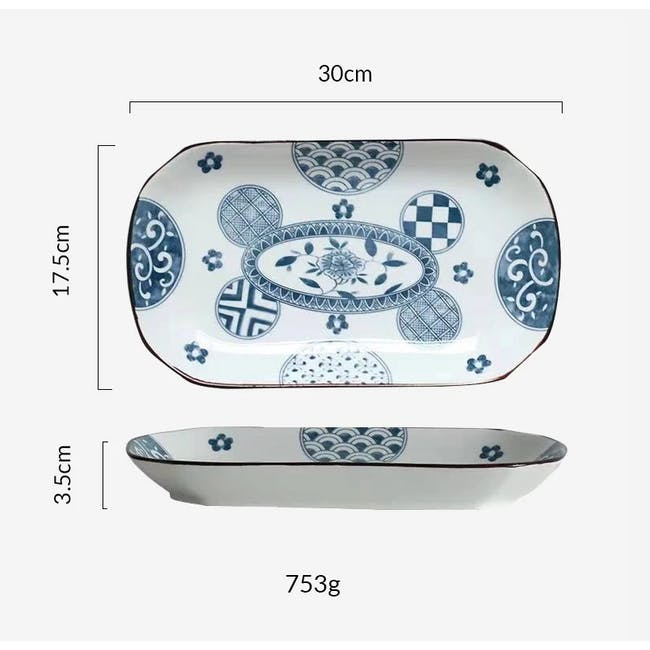 Table Matters Patchwork Rectangular Plate - 2