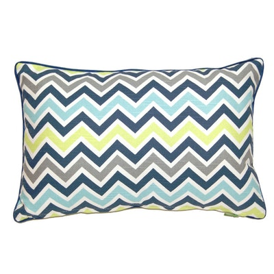 Feathers Rectangle Cushion - Green - Image 2