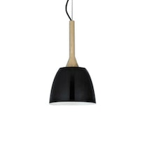 Wooden Dome Pendant - Black