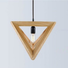 Geometric Wood Pendant Lamp