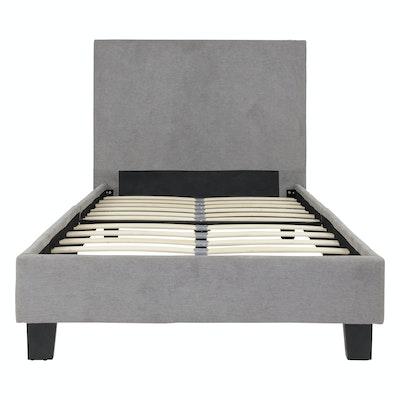 Bradley Single Headboard Bed w/ SLEEP Mattress - Light Grey - Image 2