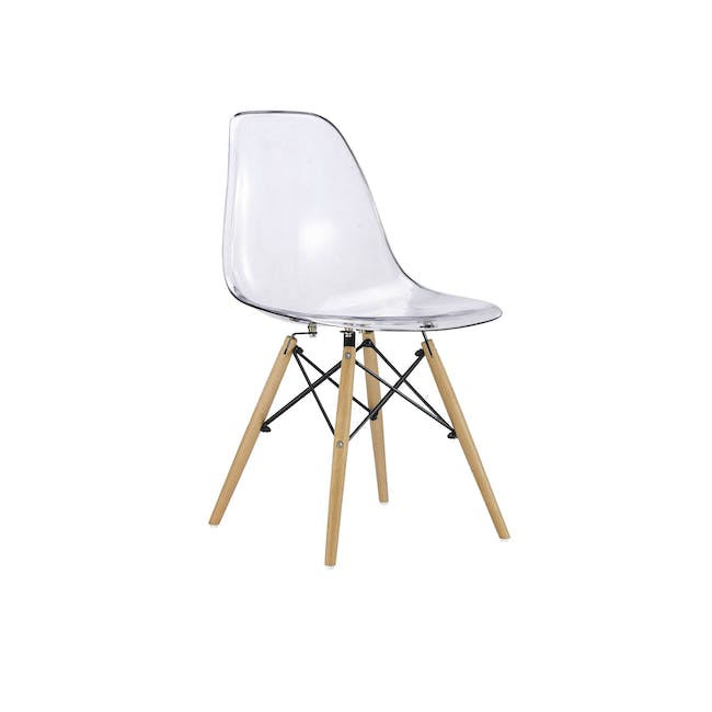 DSW Chair Replica - Natural, Clear - 0
