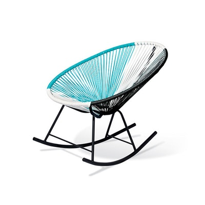 Acapulco Rocking Chair - Blue, White, Black Mix - Image 1