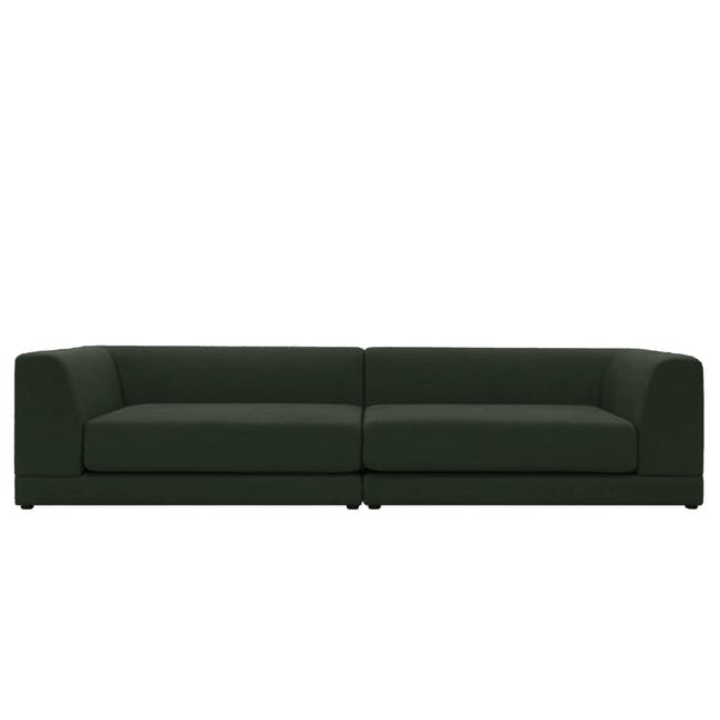 Abby 4 Seater Lounge Sofa - Olive - 0