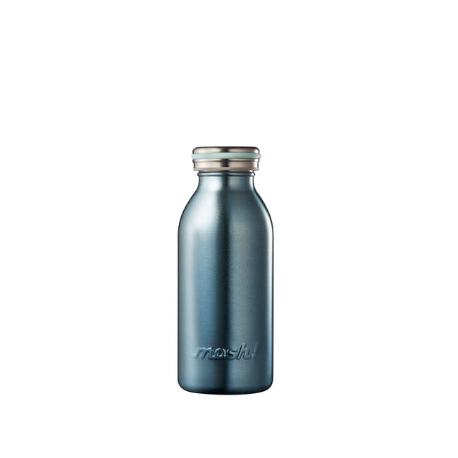 MOSH! Double-walled Stainless Steel Bottle 350ml -  Pearl Blue - 0
