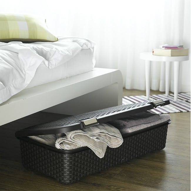 Style Roller Box with Lid 42L - Dark Brown - 1