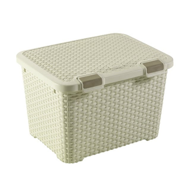 Style Box with Lid 43L - Off White - 0