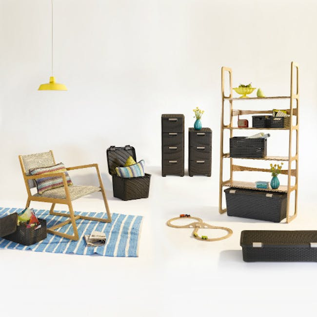 Rattan Style Drawer 3 - Off White - 1