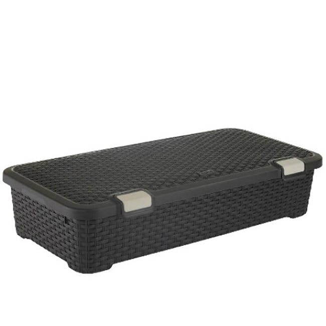 Style Roller Box with Lid 42L - Dark Brown - 0