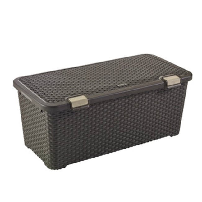 Style Box with Lid 72L - Dark Brown - 0