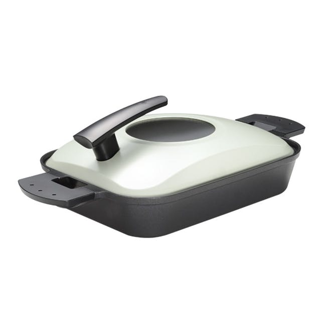Uchicook Steam Grill with Metal Lid - Black - 0