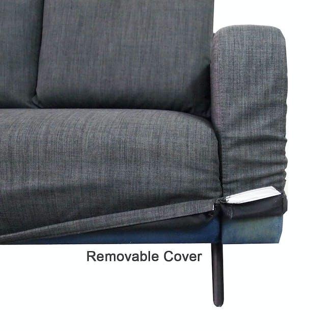 Aikin 2.5 Seater Sofa Bed - Grey - 5