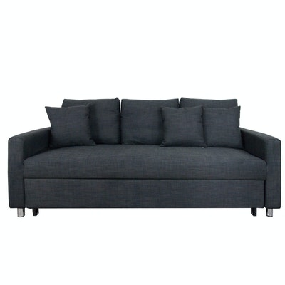 Vernon 3 Seater Sofa Bed - Grey - Image 1