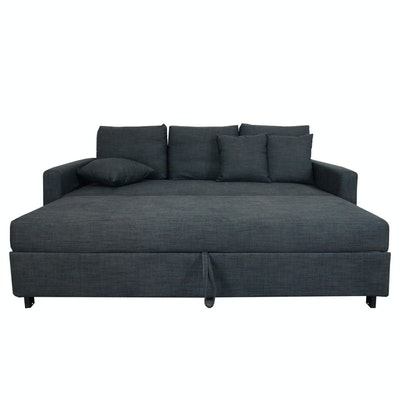 Vernon 3 Seater Sofa Bed - Grey - Image 2