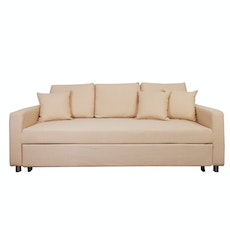 Vernon 3 Seater Sofa Bed - Beige
