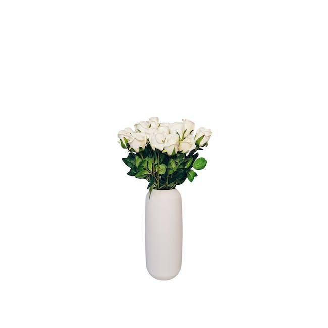 Large Cylinder Floral Clay Vase - Design 2 - 0
