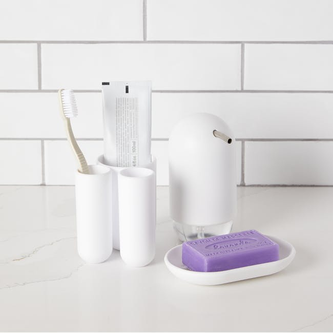 Touch Toothbrush Holder - White - 1