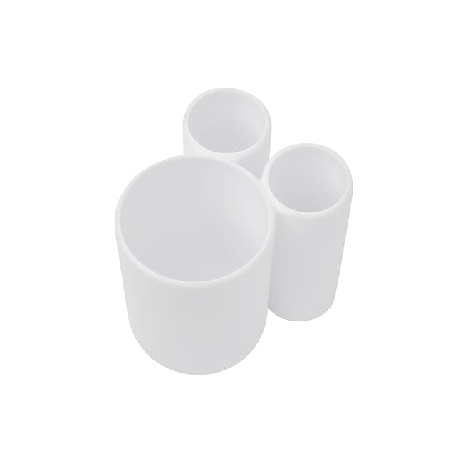 Touch Toothbrush Holder - White - 3