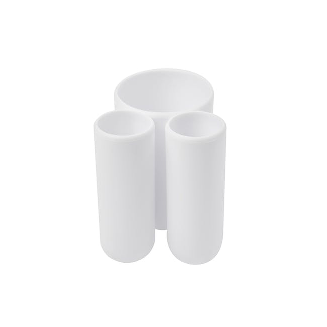 Touch Toothbrush Holder - White - 4