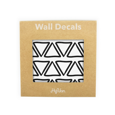 Doodle Triangle Wall Decal (Pack of 48) - Black