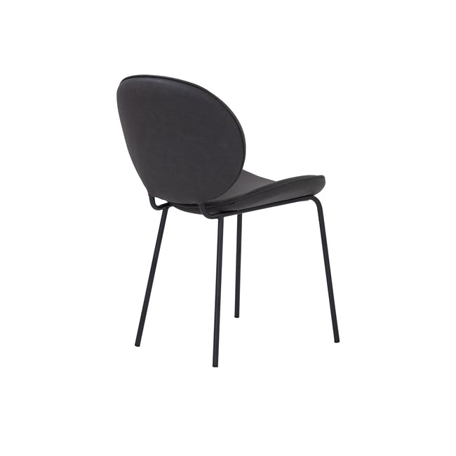 Ormer Dining Chair - Matt Black, Titanium (Faux Leather) - 3