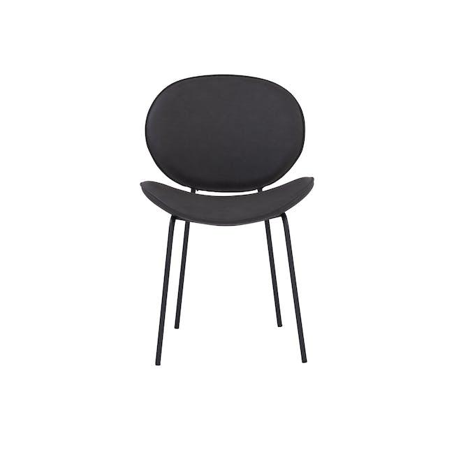 Ormer Dining Chair - Matt Black, Titanium (Faux Leather) - 2