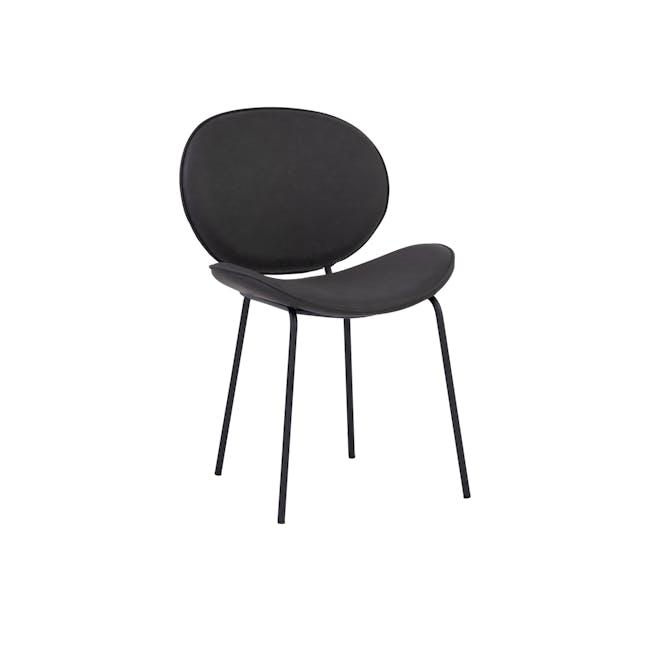 Ormer Dining Chair - Matt Black, Titanium (Faux Leather) - 0