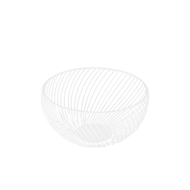 Rhea Wire Basket - White - 0