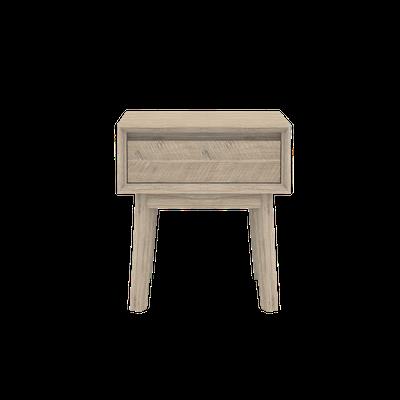 Leland Single Drawer Bedside Table - Image 2