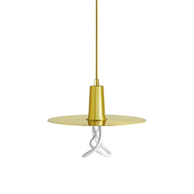 Plumen Drop Hat Pendant Set - Brass - Image 1
