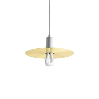Plumen Drop Hat Pendant Set - Brass, White - Image 1