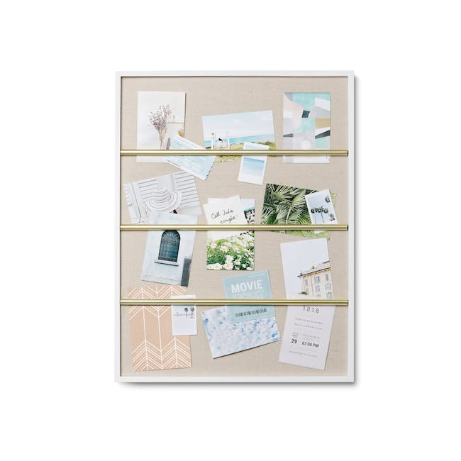 Tucker Wall Photo Display with Poise 2-Tiered Tray - 1