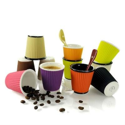 Espresso Cup - White/Rose - Image 2