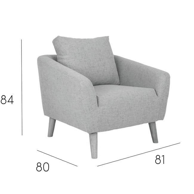 Hana 2 Seater Sofa with Hana Armchair - Charcoal - 9