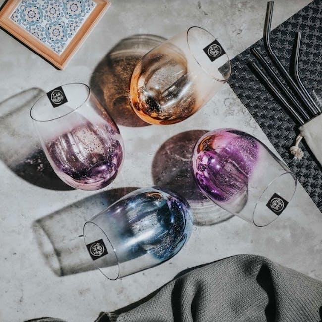 Table Matters Taikyu Luster Glass 530ml - Blue - 3